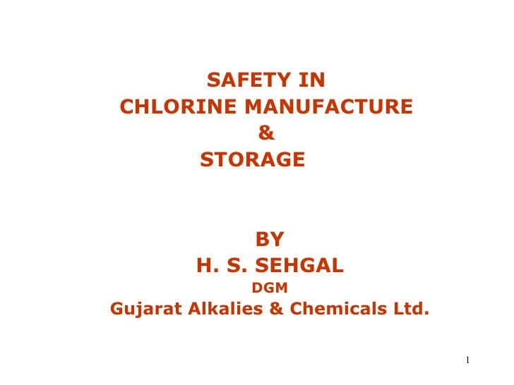 Safety in chlorine ppt