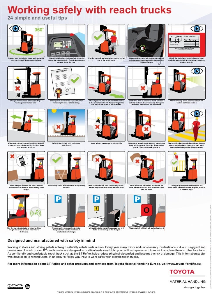 Working safely with reach trucks24 simple and useful tips                                                                 ...