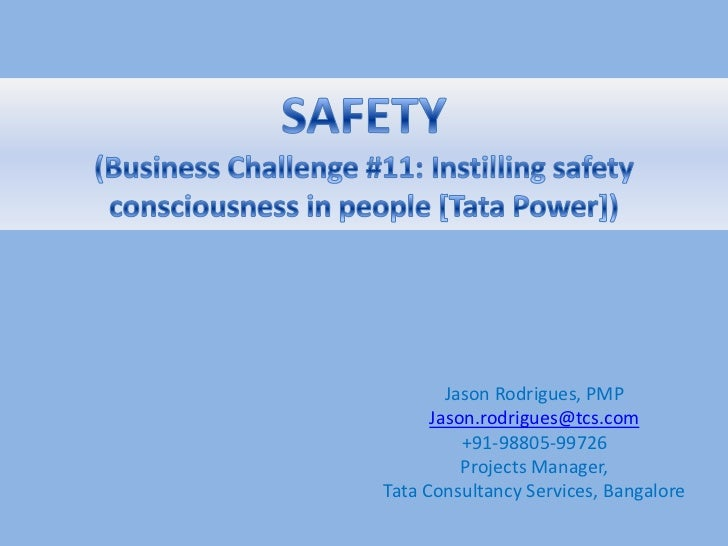 Jason Rodrigues, PMP      Jason.rodrigues@tcs.com          +91-98805-99726          Projects Manager,Tata Consultancy Serv...