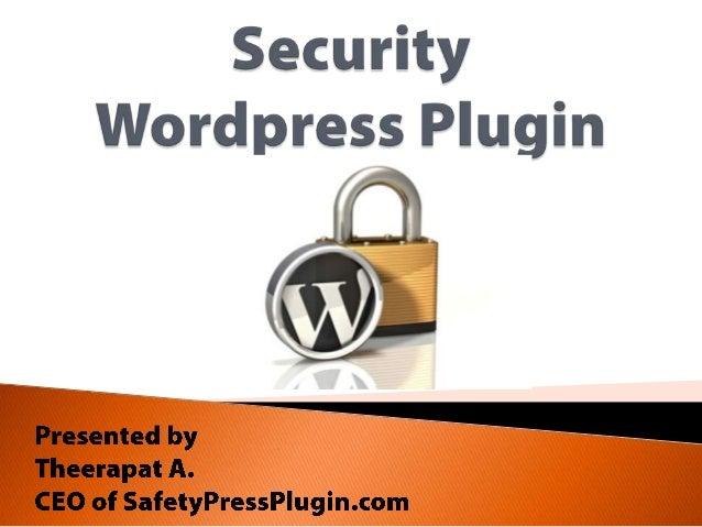 SafetyPress - Security WordPress Plugin