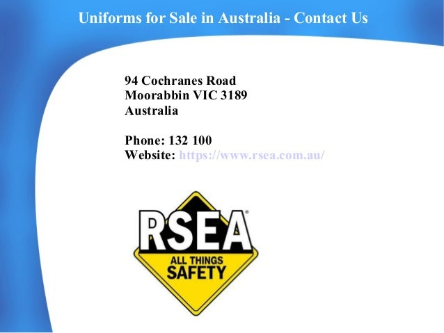 Safety Workwear Clothing Online from RSEA