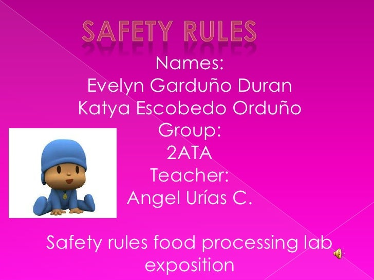 Safety rules food processing