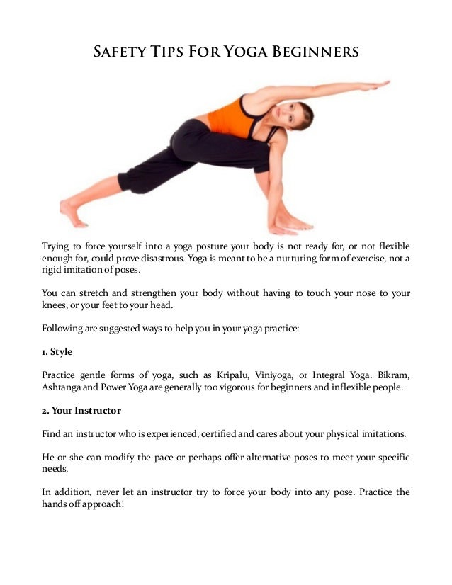 Safety Tips For Yoga Beginners