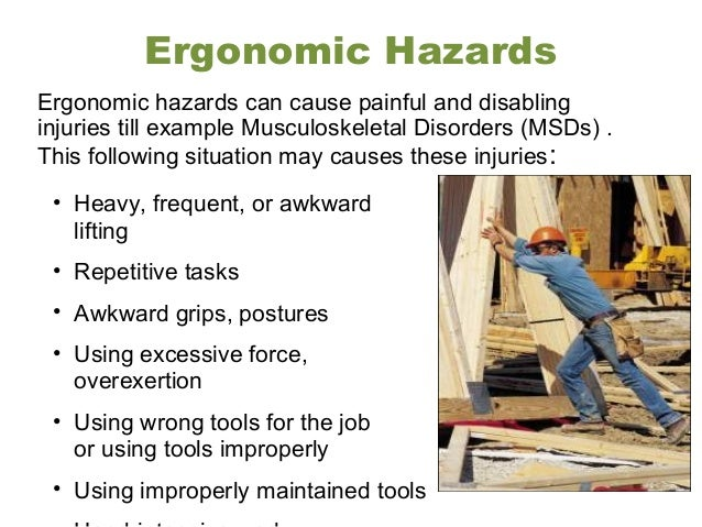 ergonomic occupational helath and safety Those in the field of occupational health come from a wide range of disciplines and professions including medicine, psychology, epidemiology, physiotherapy and rehabilitation, occupational therapy, occupational medicine, human factors and ergonomics, and many others.