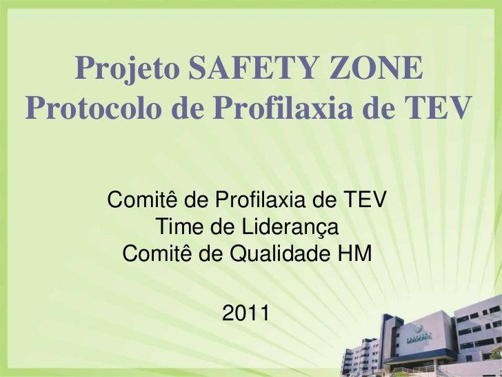 Projeto SAFETY ZONEProtocolo de Profilaxia de TEV     Comitê de Profilaxia de TEV        Time de Liderança      Comitê de ...