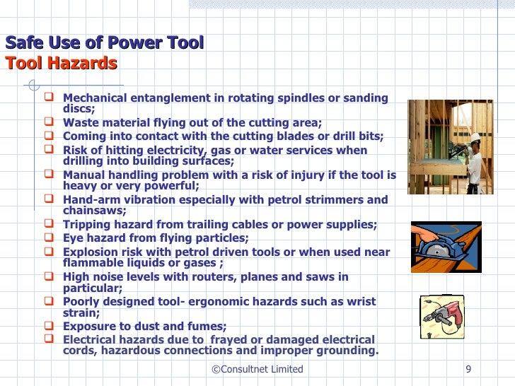 Power Sander Hazards