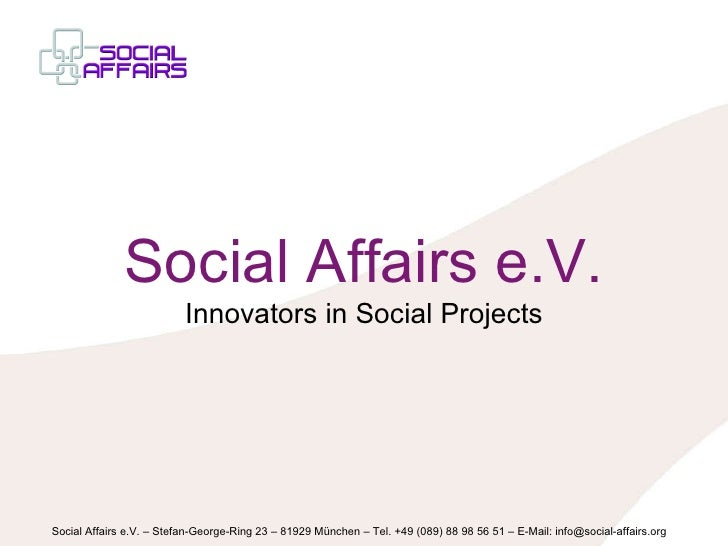 Social Affairs e.V. Innovators in Social Projects