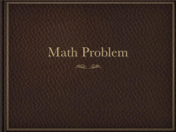 Saffron math problems