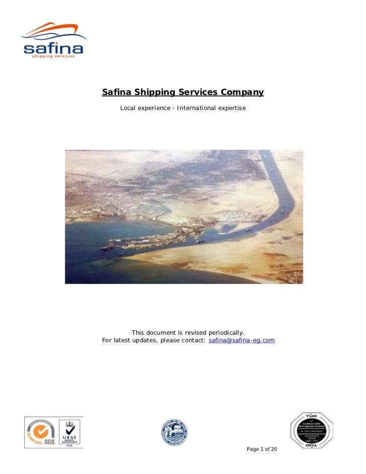 Safina Suez Canal Transit Guide