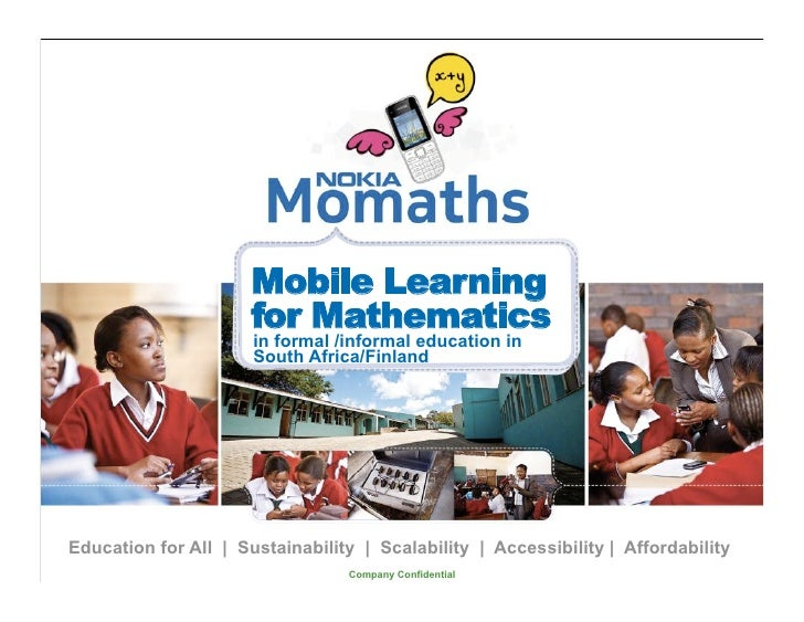Mobile Learning                      for Mathematics                      in formal /informal education in                ...