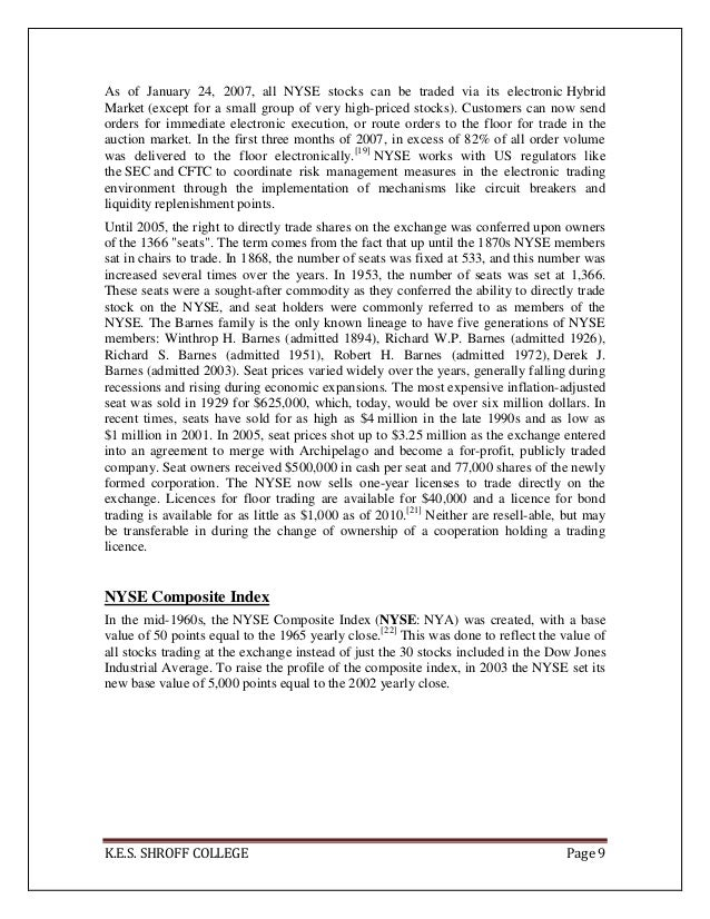 Nyse hybrid market trading system