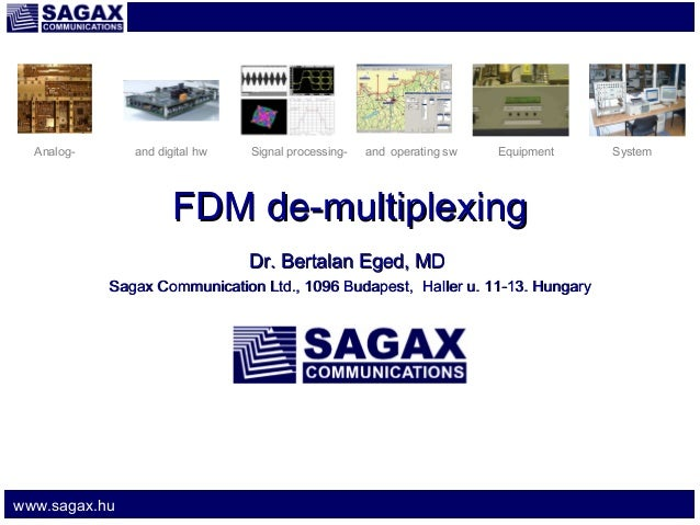 Analog-  and digital hw  Signal processing-  and operating sw  Equipment  FDM de-multiplexing Dr. Bertalan Eged, MD Sagax ...