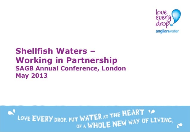 Shellfish Waters – Working in Partnership SAGB Annual Conference, London May 2013