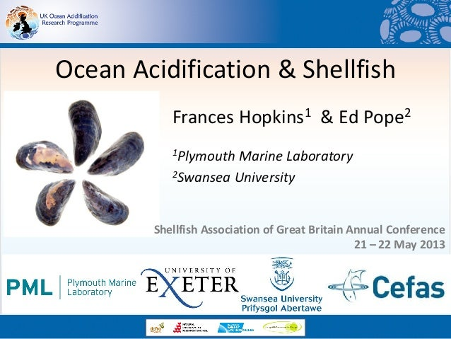 Ocean Acidification & Shellfish Frances Hopkins1 & Ed Pope2 1Plymouth Marine Laboratory 2Swansea University Shellfish Asso...