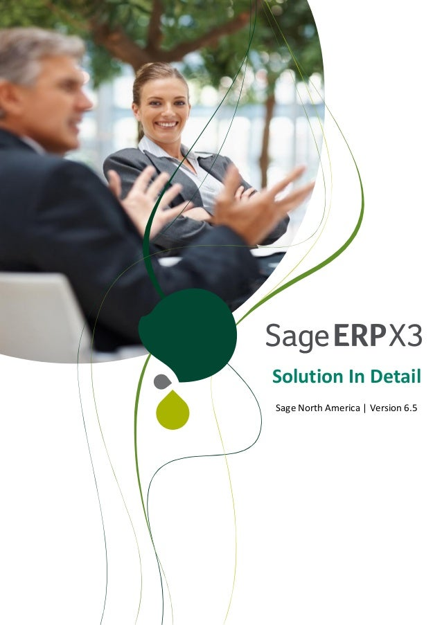 Solution In Detail Sage North America | Version 6.5