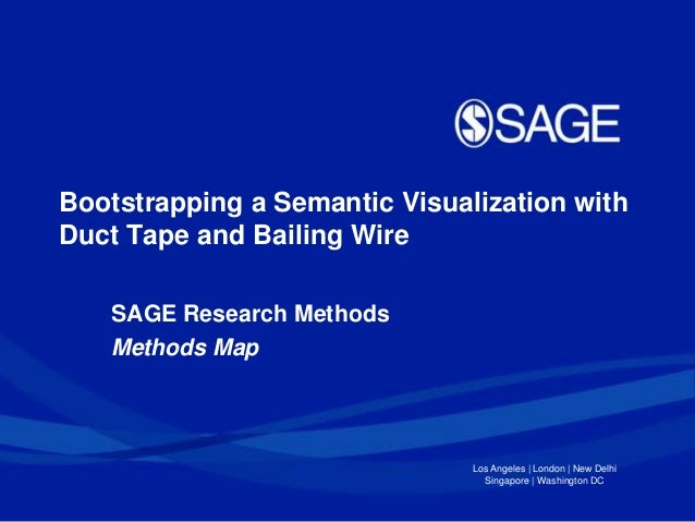 Bootstrapping a Semantic Visualization with Duct Tape and Bailing Wire SAGE Research Methods Methods Map  Los Angeles | Lo...