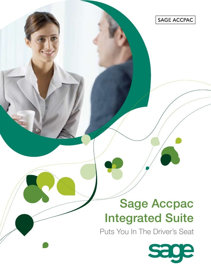 Sage Accpac  Integrated Suite Puts You In The Driver's Seat