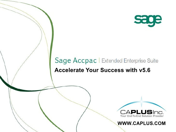 Sage Accpacv5.6 Whats New