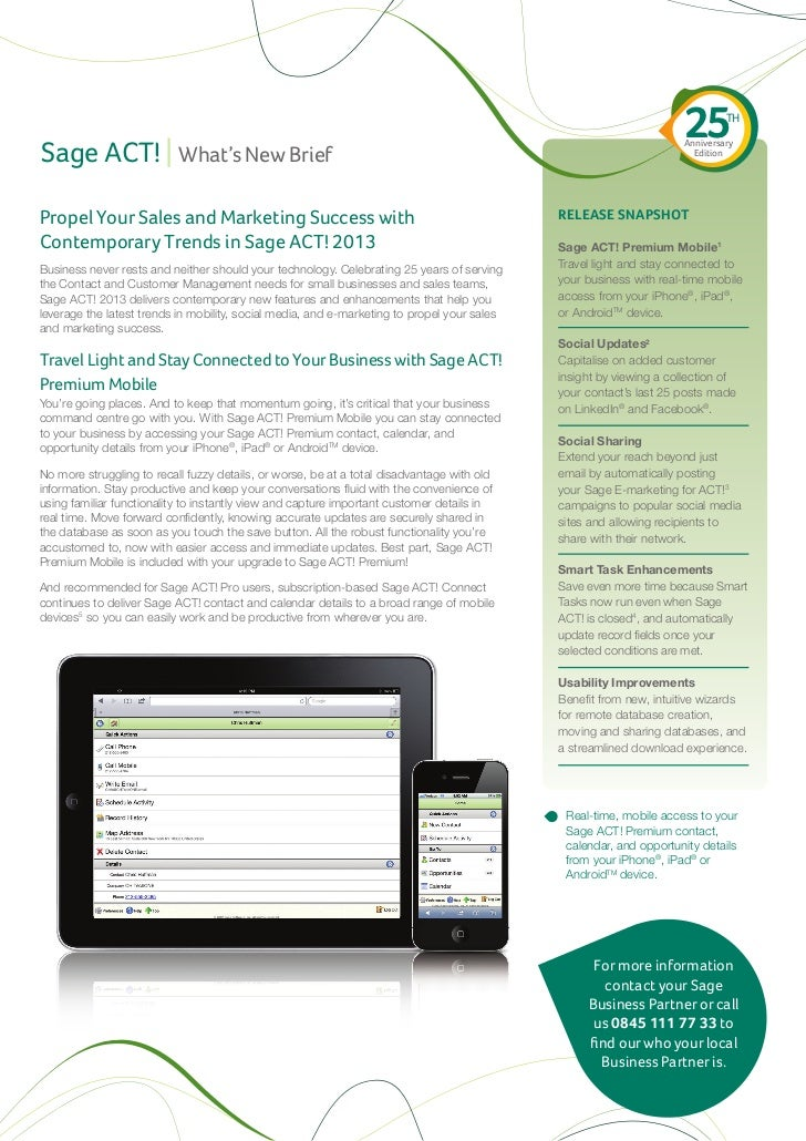 Sage act! 2013 whats new guide