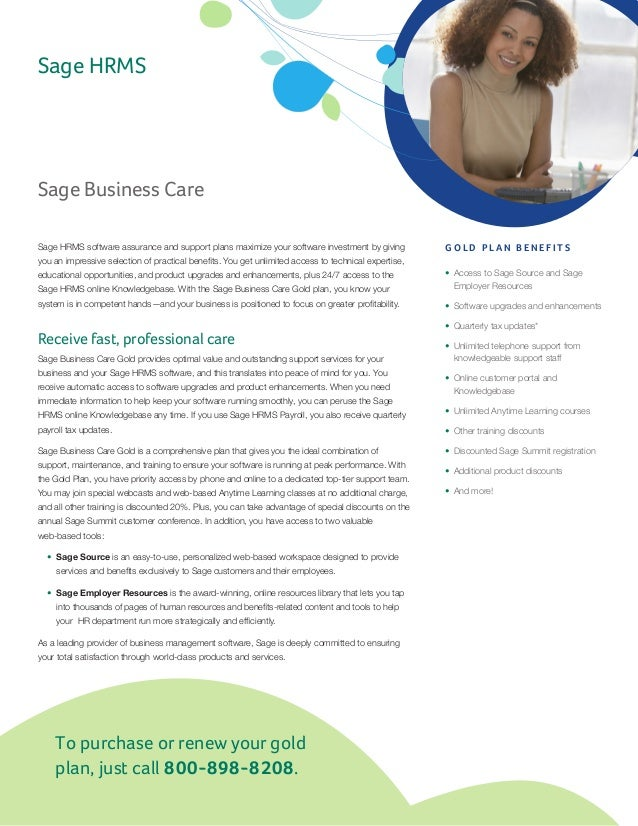 Sage Business Care Feature Sheet