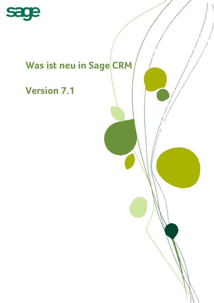 Sage CRM 7.1 Was ist neu? PDF