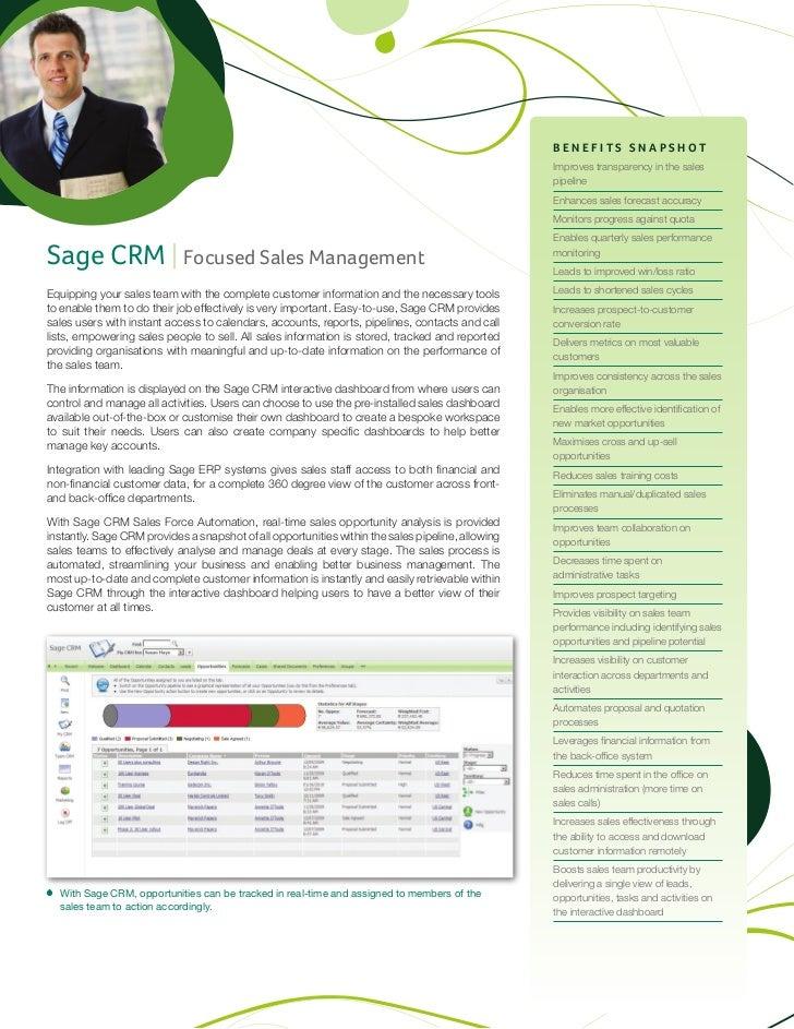 Sage CRM v7.1 Sales Datasheet