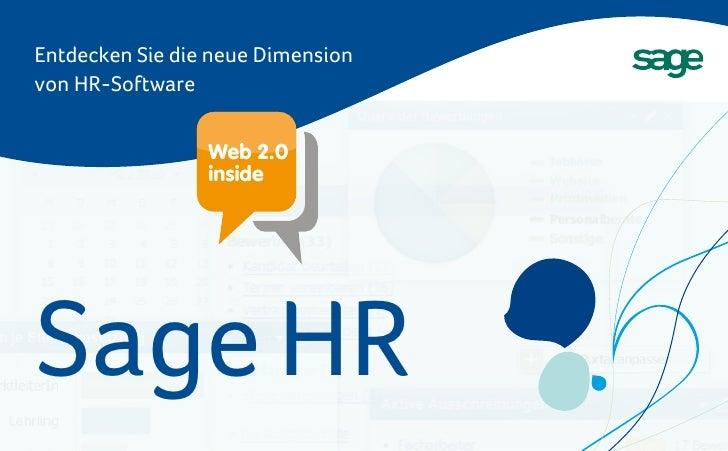 Entdecken Sie die neue Dimension von HR-Software                    Web 2.0                  inside     Sage HR