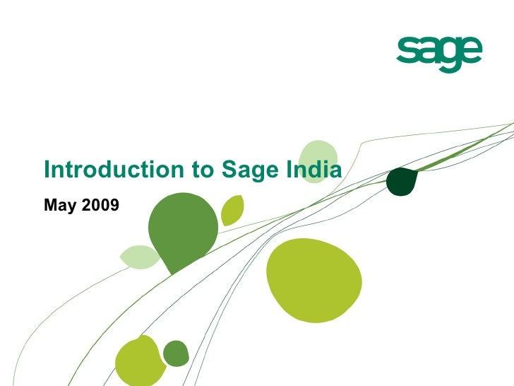 Sage India Corporate Presentation
