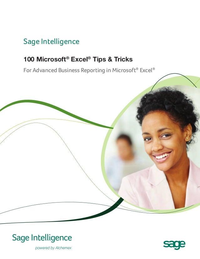 Sage Intelligence 100 Microsoft Excel Tips and Tricks