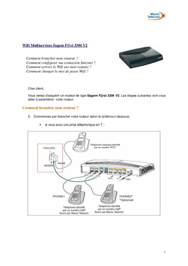 1 Wifi Multiservices Sagem F@st 3304 V2 Comment brancher mon routeur ? Comment configurer ma connexion Internet ? Comment ...