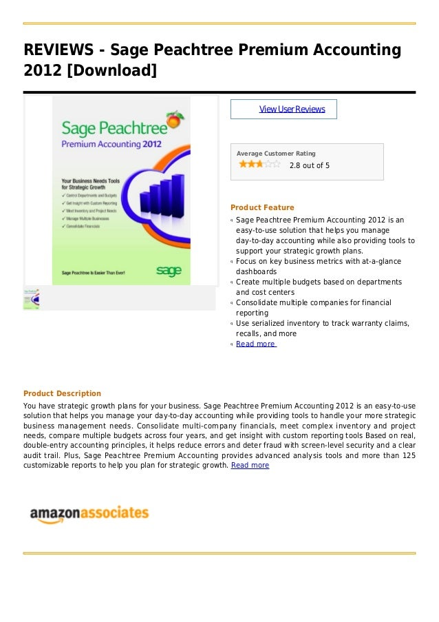 Sage peachtree premium accounting 2012  [download]