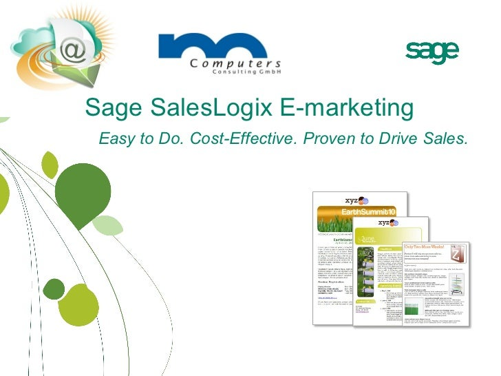 Sage SalesLogix E-marketing overview english