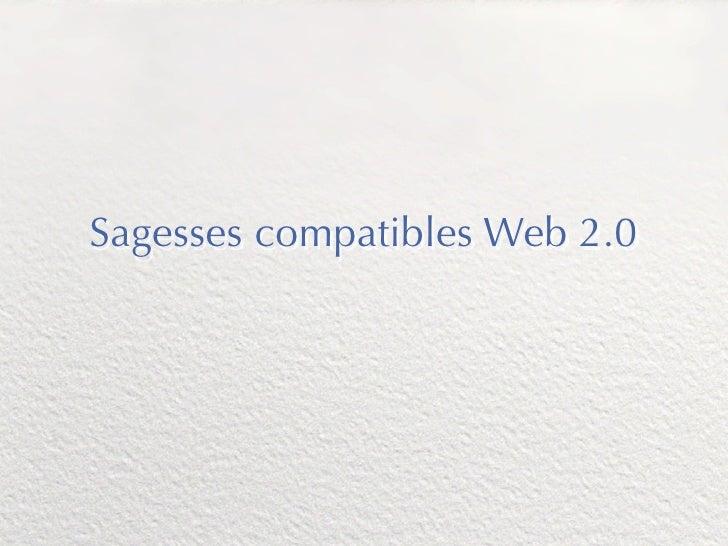Sagesses compatibles Web 2.0