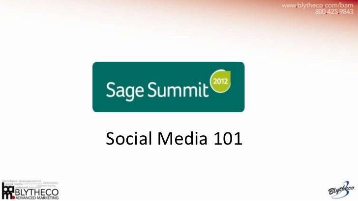 Sage Summit Social Media Guide 101