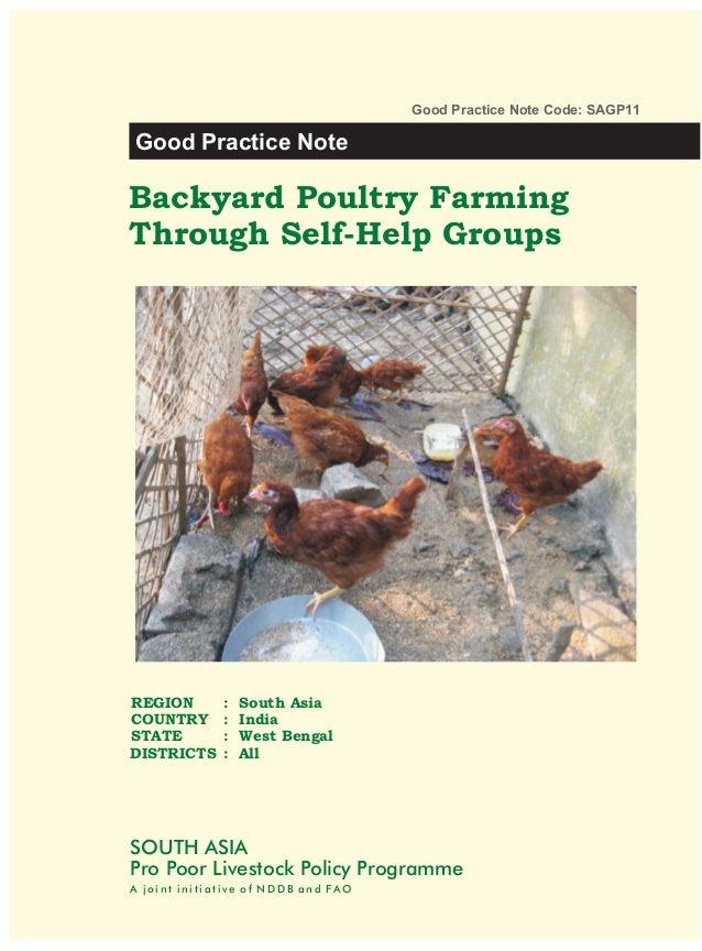 Backyard Poultry Farming Through Self-Help Groups in West Bengal - Towards Good Livestock Policies (SAGP11)