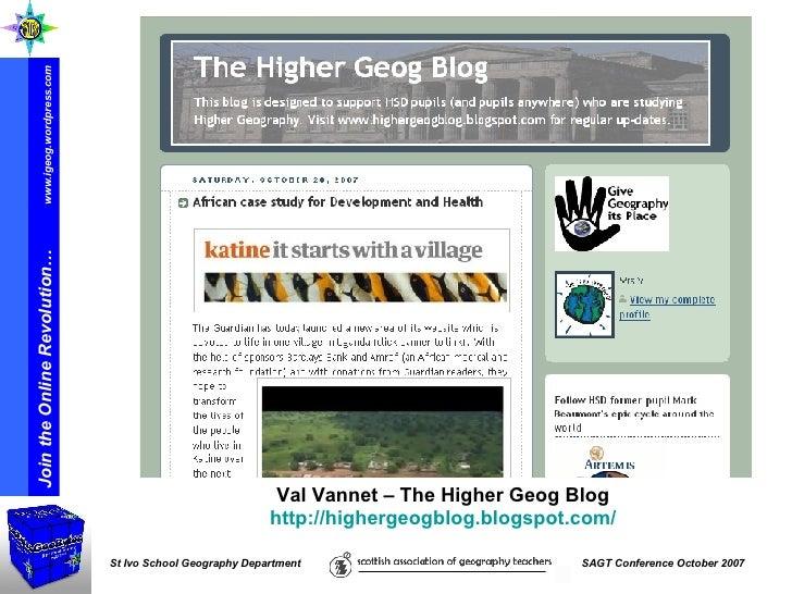 Val Vannet – The Higher Geog Blog  http://highergeogblog.blogspot.com/