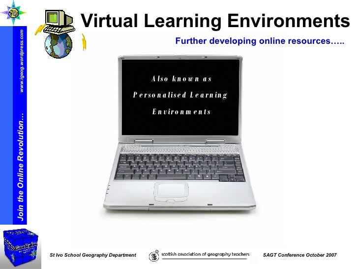 Also known as Personalised Learning  Environments Virtual Learning Environments Further developing online resources…..