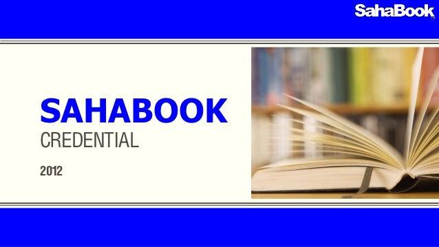 SahaBook credential 2012