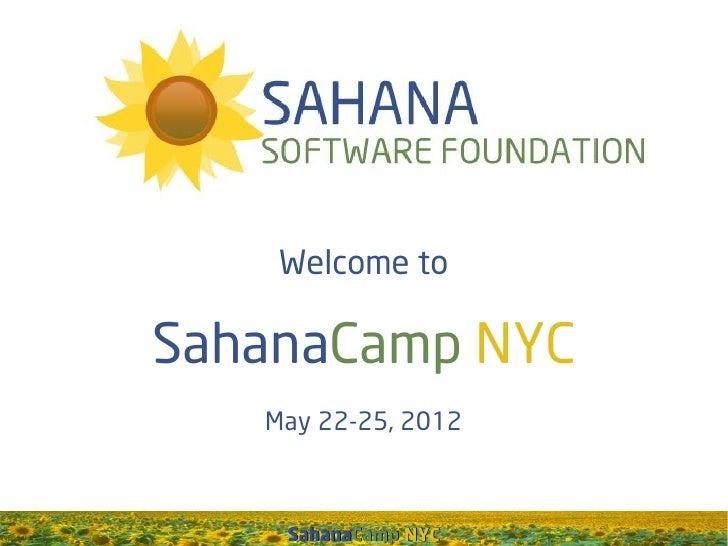 Welcome toSahanaCamp NYC   May 22-25, 2012    SahanaCamp NYC
