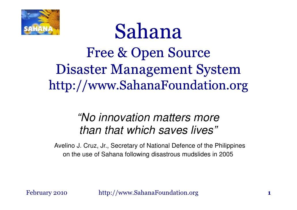 Sahana Haiti Brief 022310