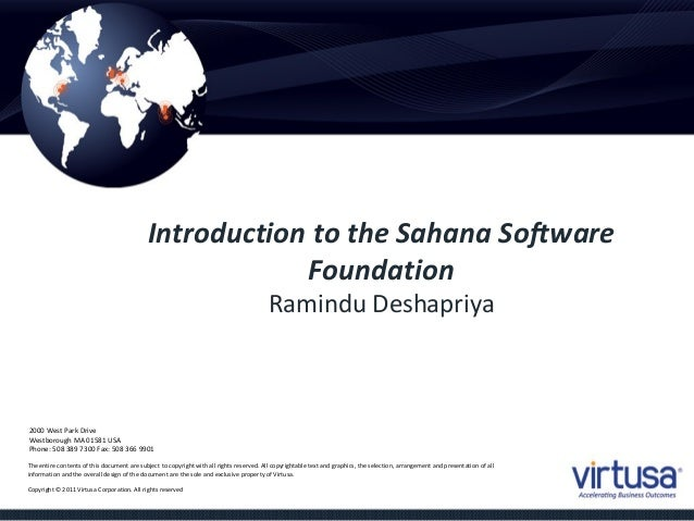 Introduction to Sahana at Virtusa