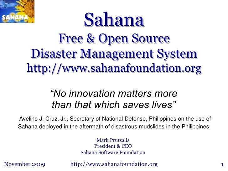 Sahana Recent Brief 120109