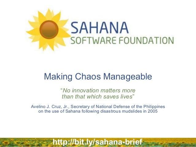 Sahana Software Foundation Overview Brief - Long