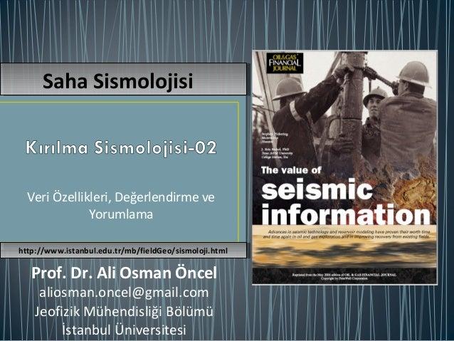 Kırılma Sismolojisi - 02