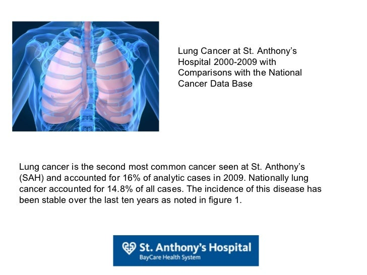 Lung Cancer at St. Anthony's Hospital 2000-2009 with Comparisons with the National Cancer Data Base Lung cancer is the sec...