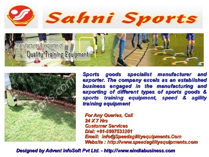 Sports goods specialist manufacturer and                            exporter. The company excels as an established        ...