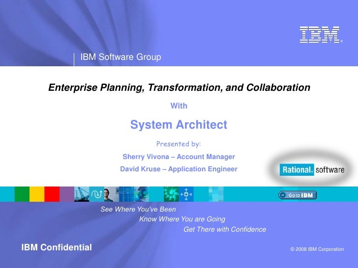 Enterprise Planning, Transformation, and Collaboration<br />With<br />System Architect<br />Presented by:<br />Sherry Vivo...
