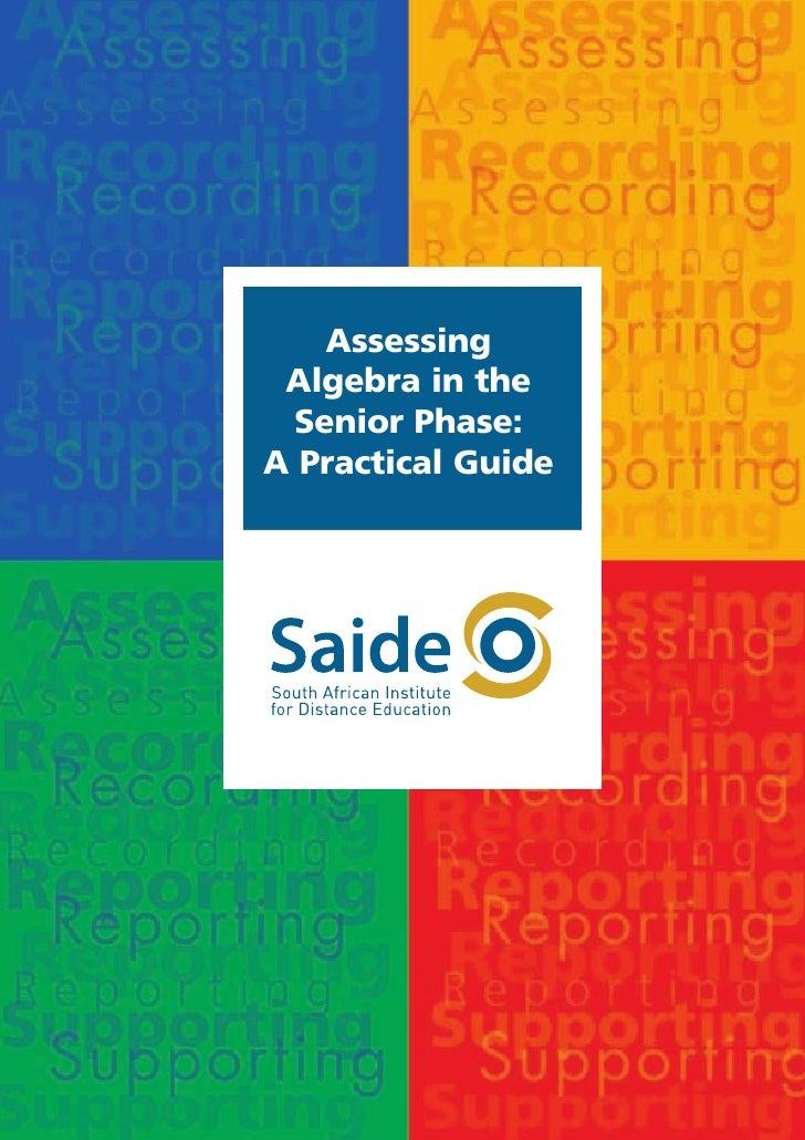 Assessing Algebra in the Senior Phase: A Practical Guide
