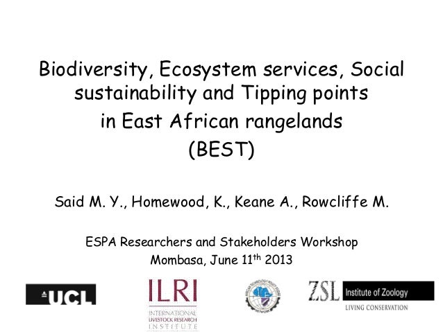 Biodiversity, Ecosystem services, Social sustainability and Tipping points in East African rangelands (BEST)