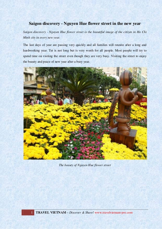 Saigon discovery - Nguyen Hue flower street in the new year
